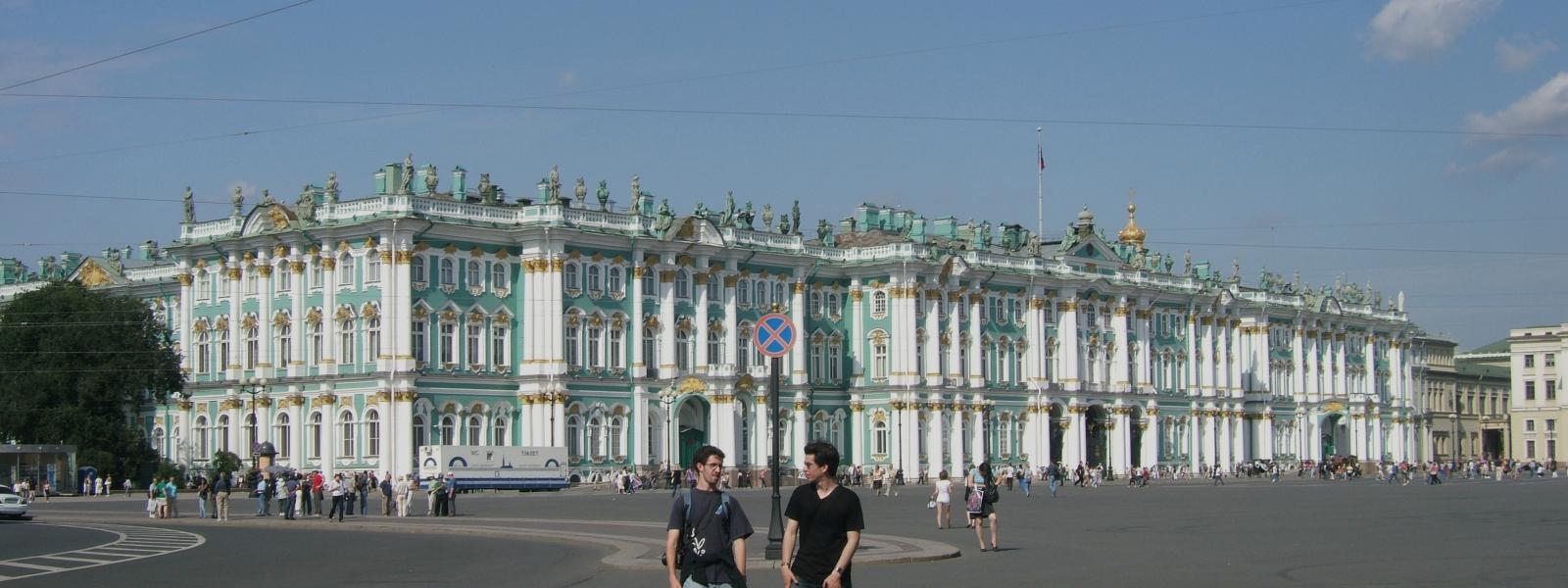 De Hermitage met zijn enorme collectie schilderijen