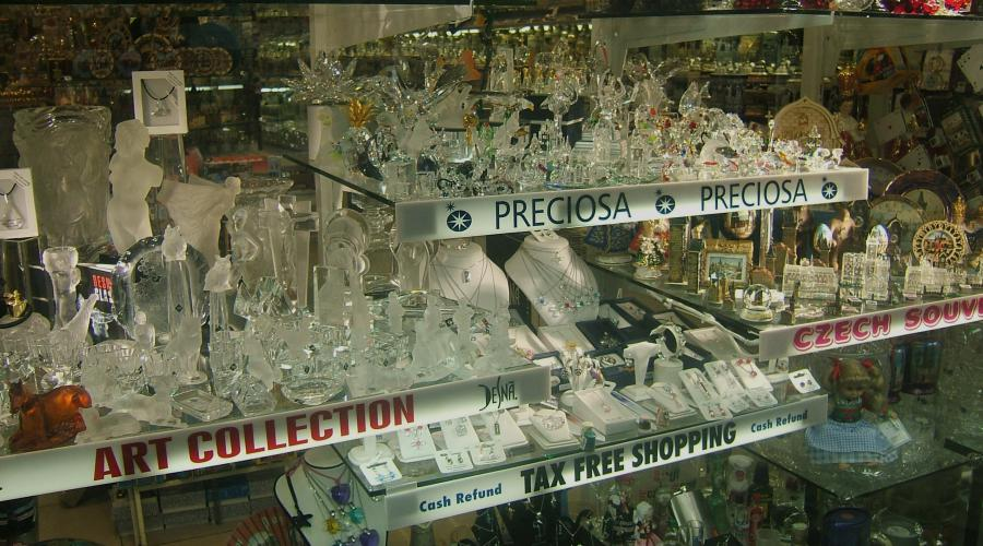 Cristal - glas - Praag - Tsjechië