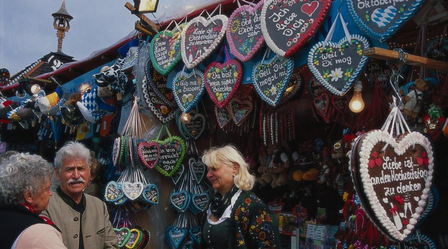 typische peperkoek , kerstmarkt München