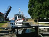 Vertrek voor de tocht op het Götakanaal