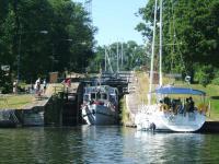 sluizen op het Götakanaal