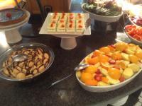 lekkere gerechten tijdens het buffet in ons verblijfshotel