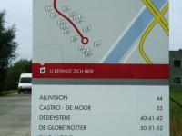 Vertrekplaats en garage De Globetrotter Deinze in industrieterrein Clemence Dossche