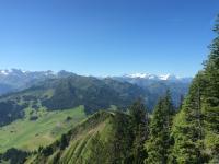 mooie zichten op de bergruggen