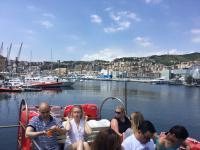 we verlaten Genua - boottocht - deglobetrotter