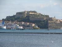 Een zicht op Portoferraio - het eiland Elba