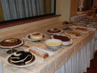 dessert buffet in het hotel