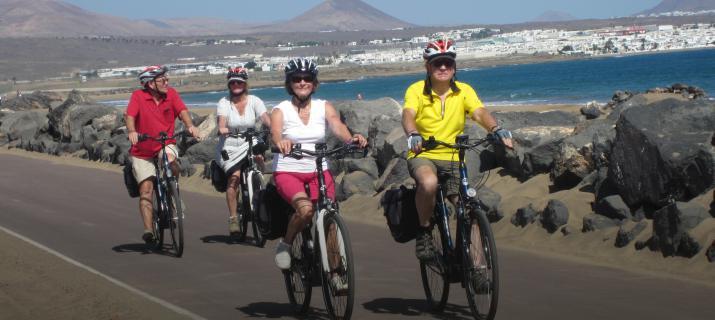 fietsen in Lanzarotte