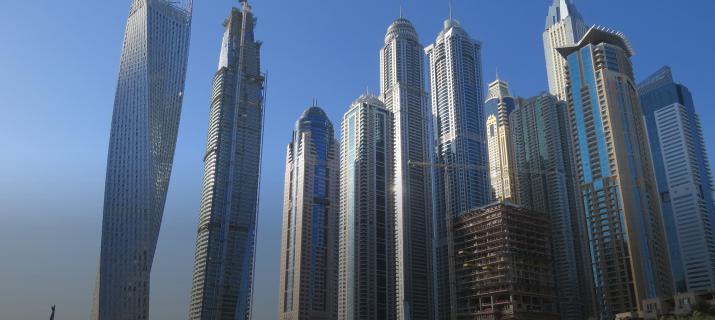 Panorama Verenigde Emiraten - wolkenkrabbers De Globetrotter