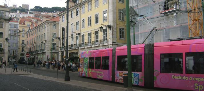 Lissabon - typische trams
